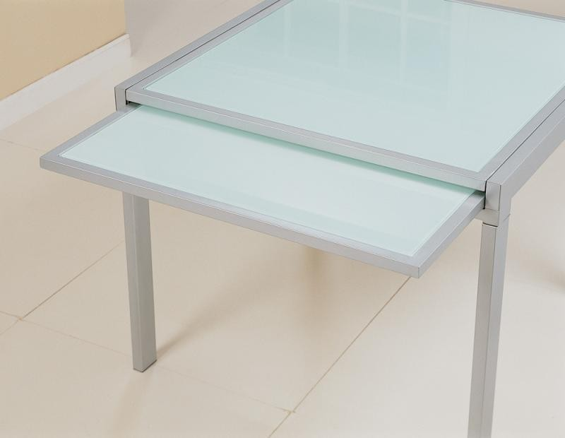 Sunrise frosted glass dining table tables dining Frosted glass furniture