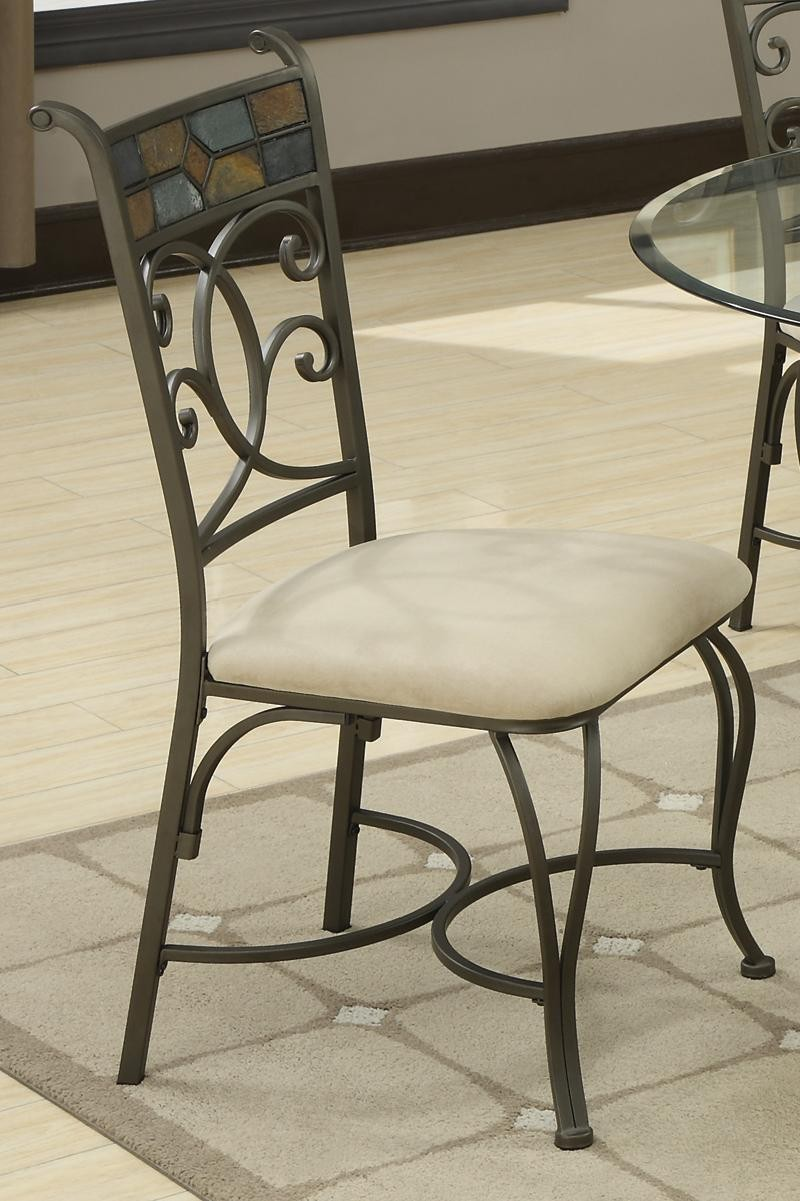 5 Piece Glass Side Chair