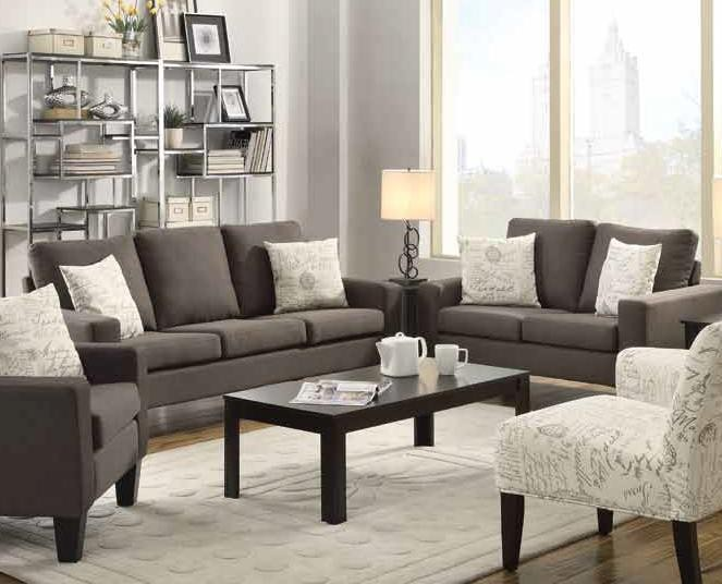 Burton Sofa and Loveseat -gray