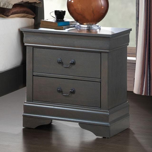 Louis Phillipe Nightstand in Grey