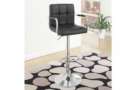 Alexis Adjustable Barstools black (Includes 2)