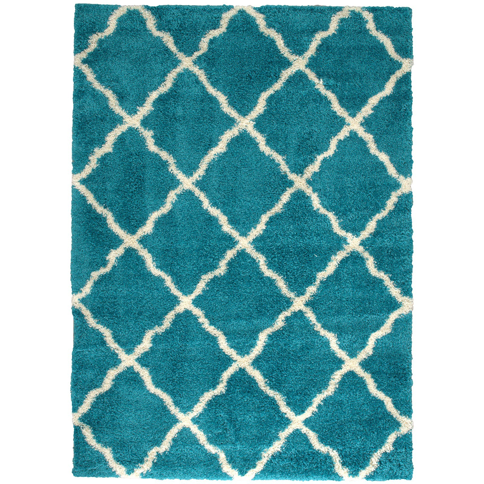 Zafirah Shagg Rug in Turquoise