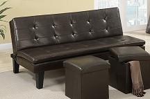 F7199 Futon Sofa bed with ottoman