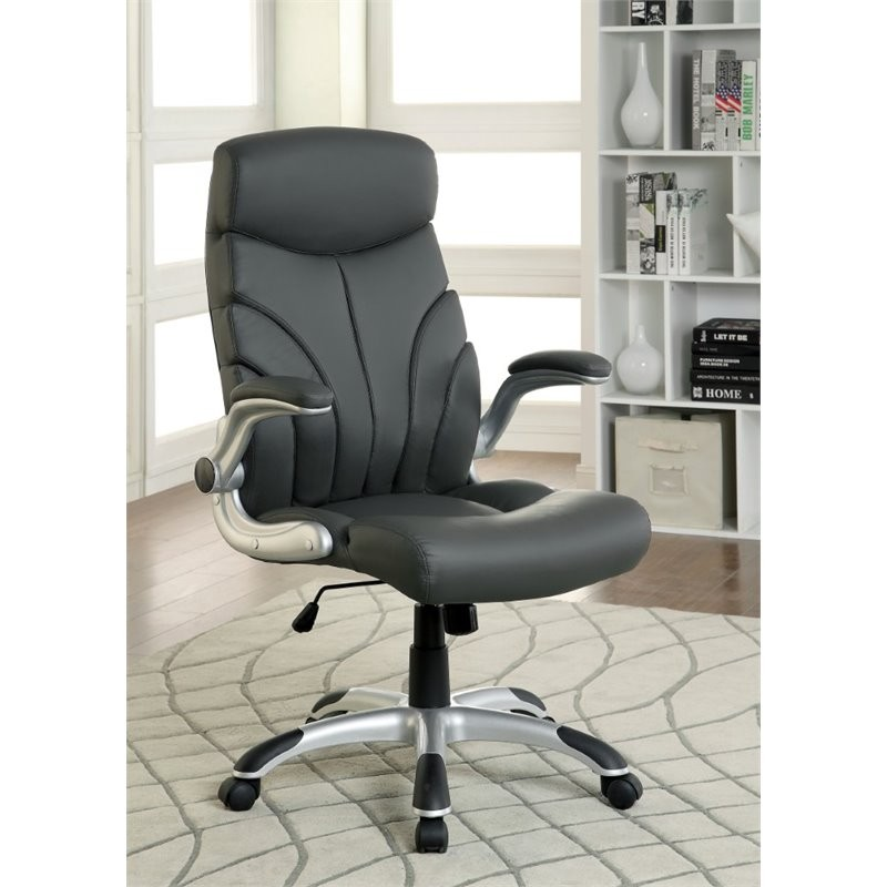 Barton Office Chair in dark grey