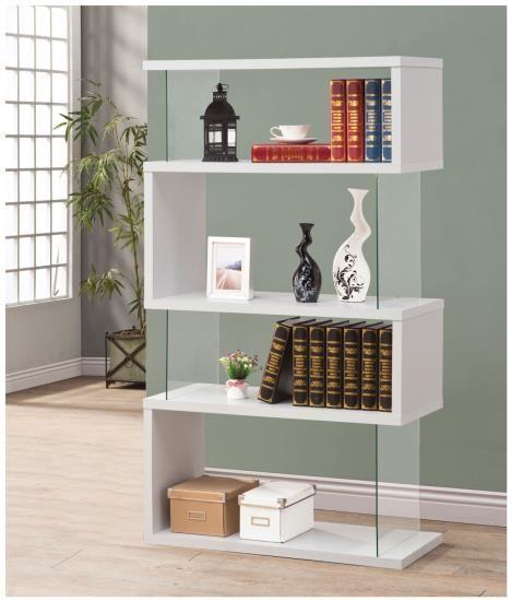 Illusions Bookcase in White