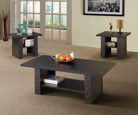 Mason 3pc. Coffee Table Set in Black