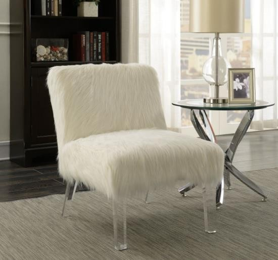 Shannon Accent Chair in White