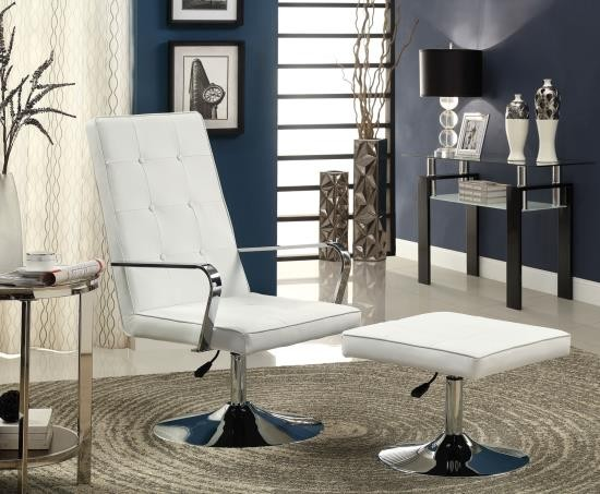 Infinity Modern Swivel Chair and Ottoman