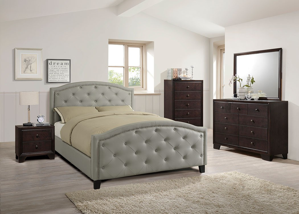 Alston Queen Platform Bed In Grey Beds Bedroom
