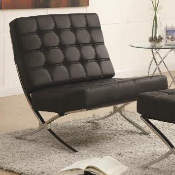 Modern Barcelona Chair in Black