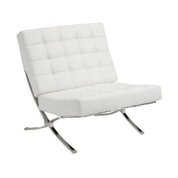Barcelona Modern Chair in White