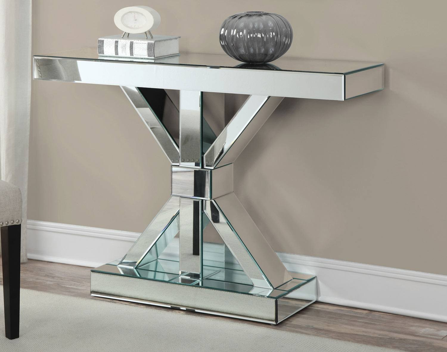 Excess Mirrored Console Table