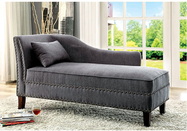 Miller Chaise Lounge in Grey