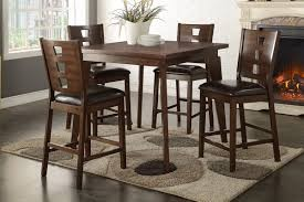 Parker 5pc. Counter height Dining set in walnut
