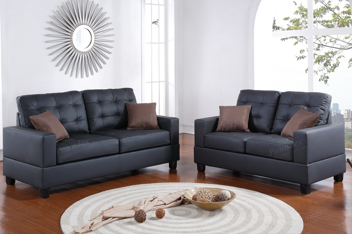 ON SALE! Ariat 2pc Sofa and Loveseat in Black
