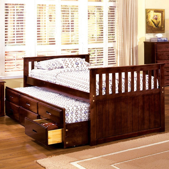 Montana Captain Bed with Trundle and Drawers