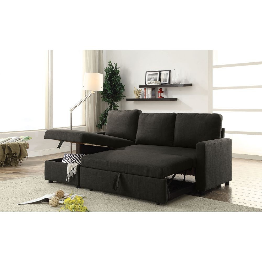 hiltons sectional sofa with sleeper and storage sectionals living room. Black Bedroom Furniture Sets. Home Design Ideas