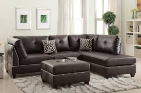 Collette 2pc reversible Sectional and Ottoman in espresso
