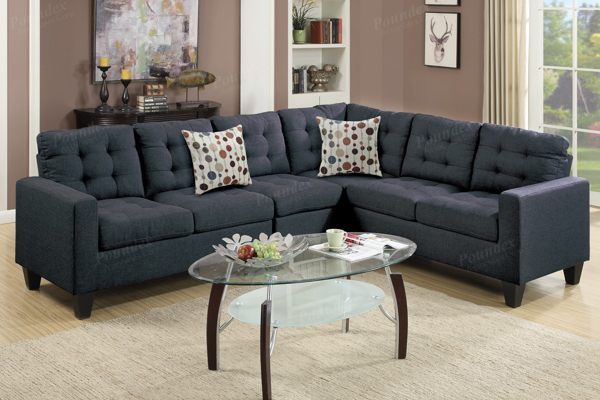 SALE! Peta Fabric Sectional Sofa