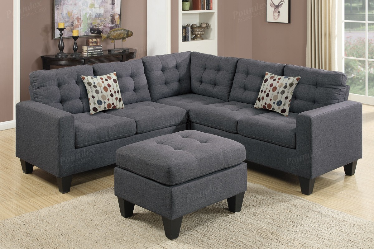 SALE! Peta 4pc. Modular sectional with accent pillow