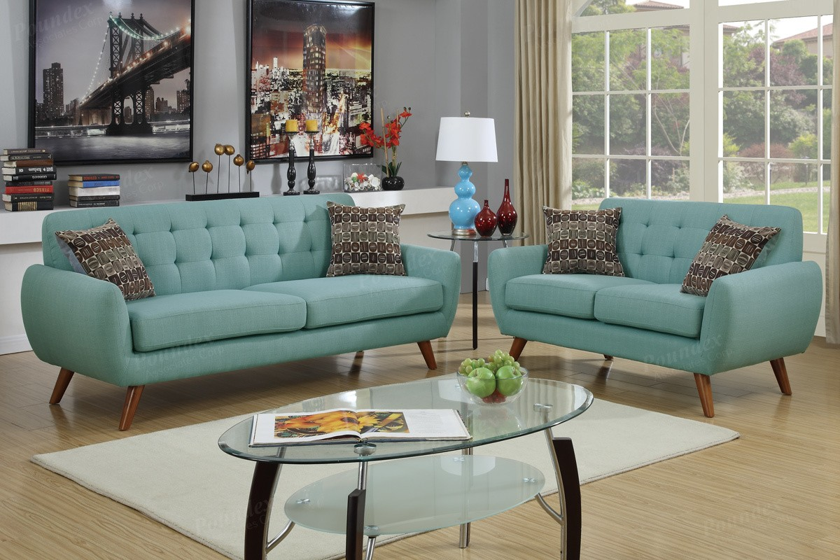 Vogue Sofa And Lovseat Set Sky Blue Sofa Sets Living Room