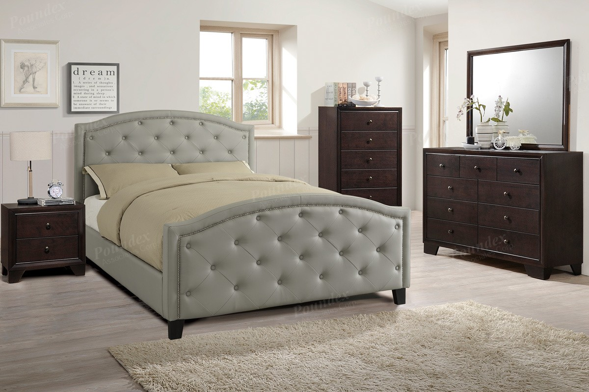 Alston 4pc. Queen Platform Bedroom set in grey