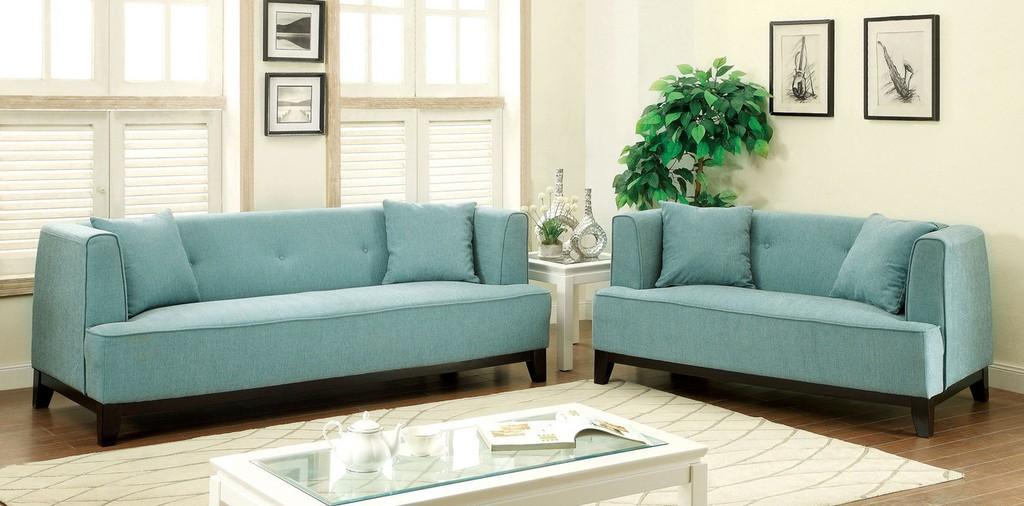 Inez Sofa And Loveseat Light Blue Sofa Sets Living Room
