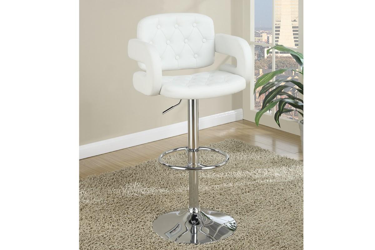 Jaxson Adjustable Barstool in white