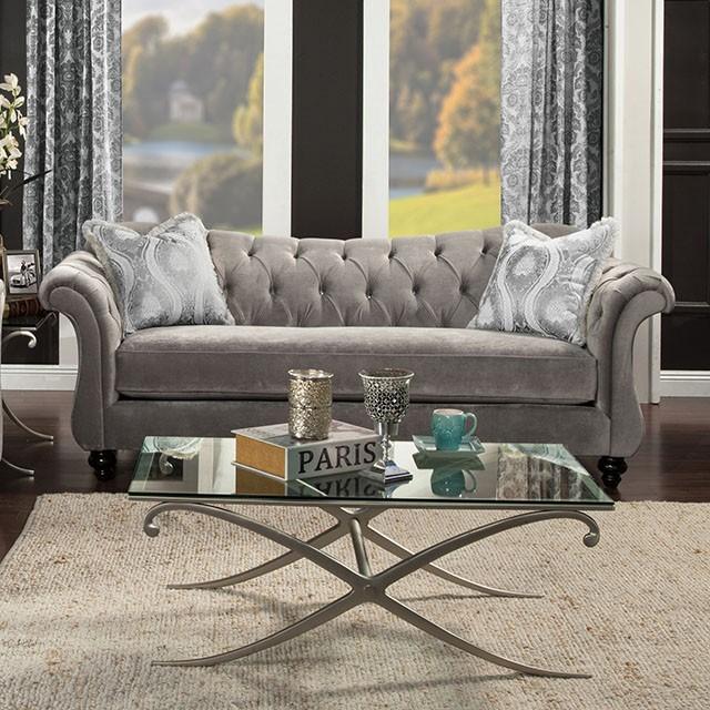 Antoniette II Sofa In Dove Grey