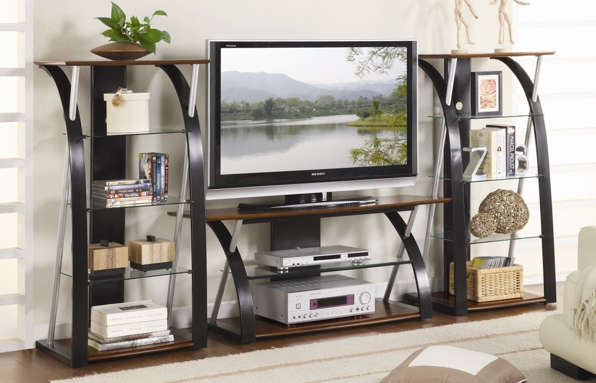 Lonture 3pc.Tv Stand with 2 Towers