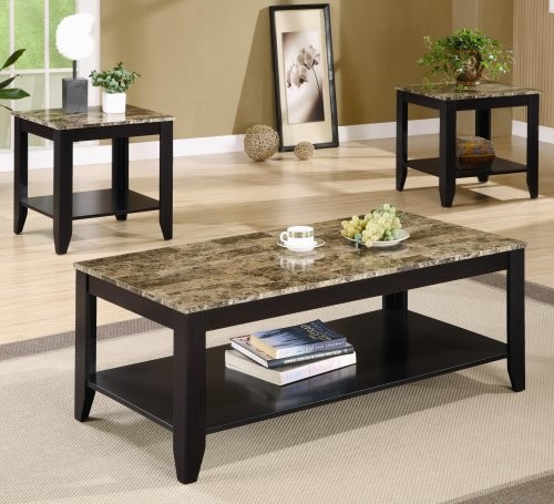 Contempo 3 Piece Coffee & End Table Set