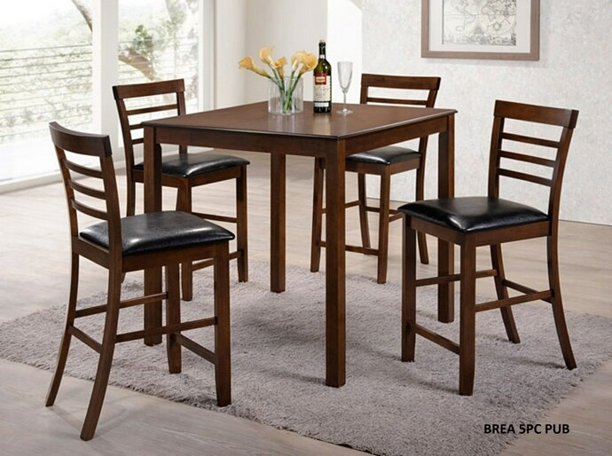 5pc. Brea Counter Height Dining set in walnut