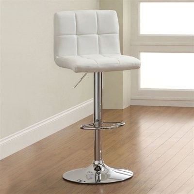 Koi Adjustable Swivel Bar Stool white