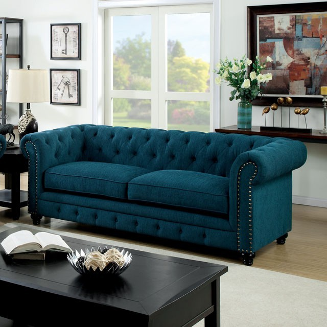 Chesterfield Sofa In Dark Teal
