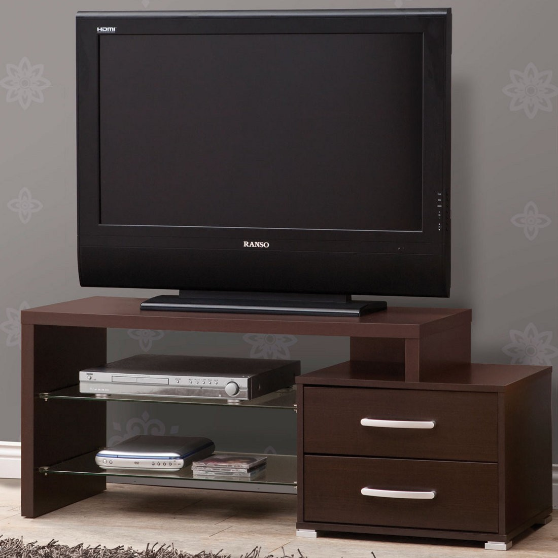 Cyrix Tv Stand Espresso Entertainment