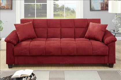 Easton Adjustable sofa with Storage in Red