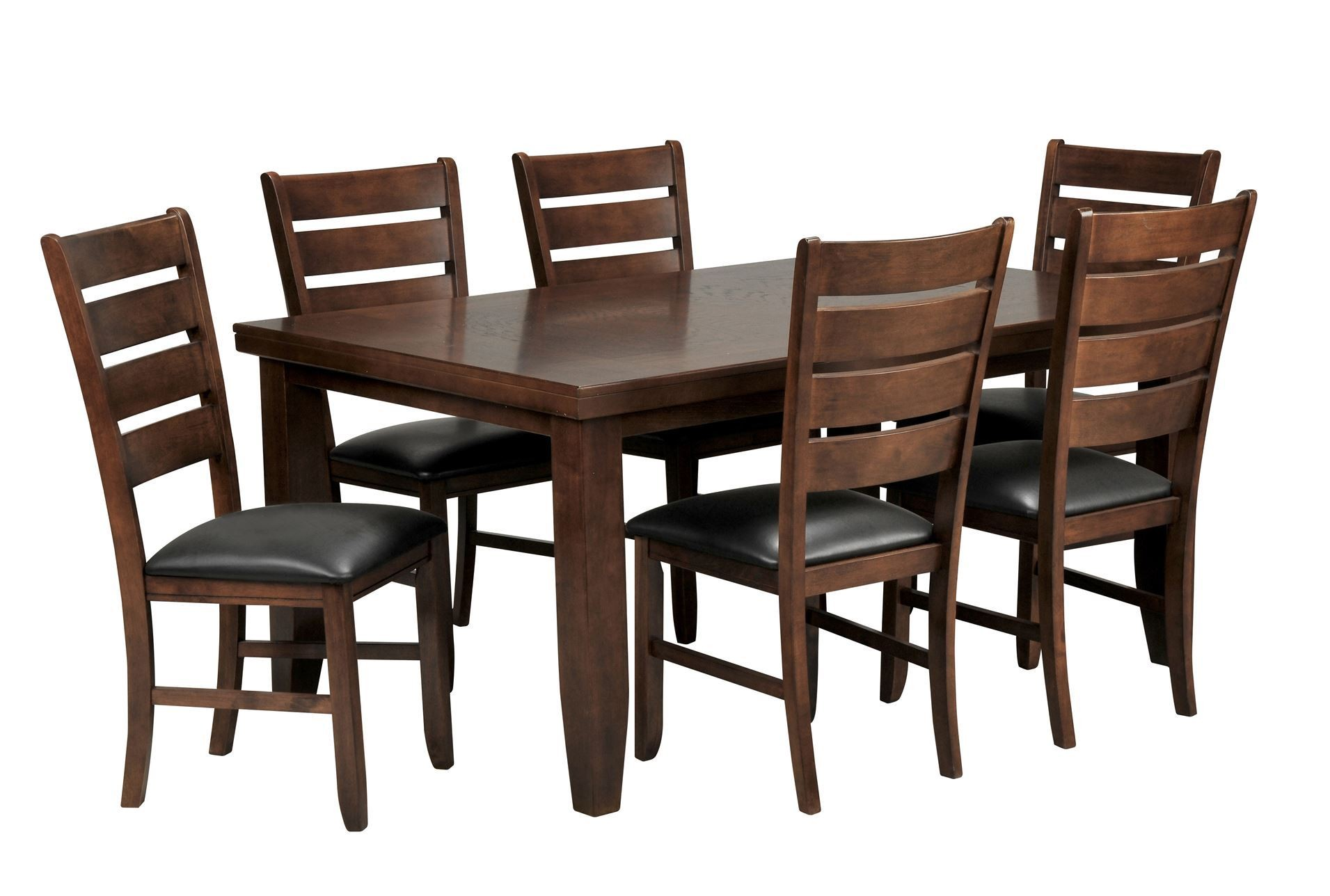Bradford 7 piece dining set w 6 bardstown side chairs for 7 piece dining set with bench
