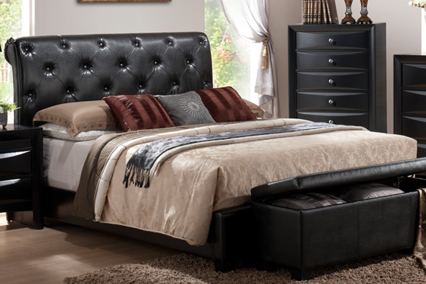 Milan Queen Bed Frame Beds Bedroom