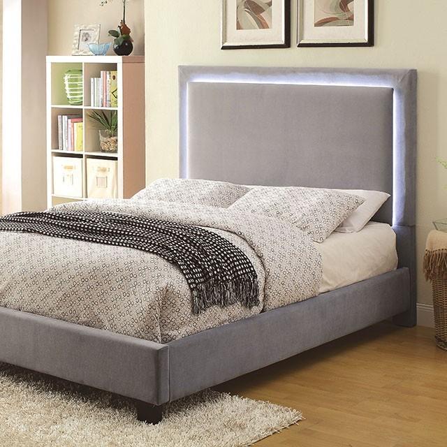 Orion Queen Platform Bed Frame With Led Lighting Bedroom