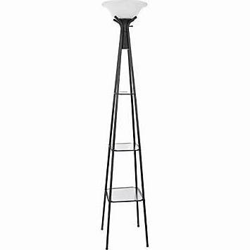 Tower Floor Lamp with Shelf