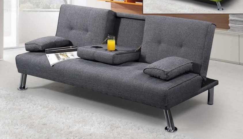 SALE! Kami Sofa Bed with Cupholder and Tray