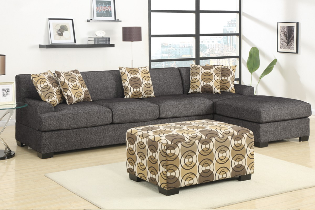 Damascus Sectional Large - Charcoal : charcoal sectional with chaise - Sectionals, Sofas & Couches
