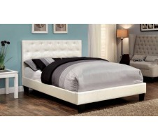 Kodell Contemporary Platform bed in white