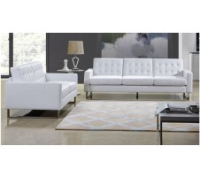 Park Heights Sofa & Loveseat Set - White