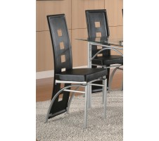 Los Feliz Metal Dining Chair, Black