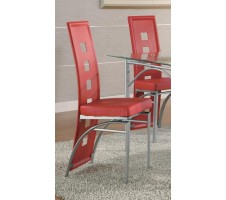 Los Feliz Metal Dining Chair, Red