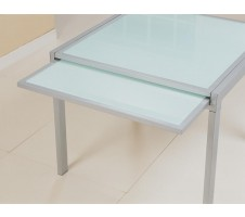 Sunrise Frosted Glass Dining Table