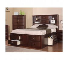 F9234 Harvey II  Espresso Finish Queen Bed w/ 6 Drawers