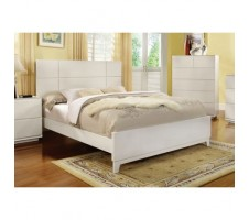 Elie Contemporary White Finish Queen Bed