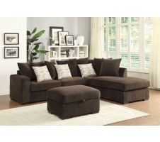 Orlando Reversible Sectional- chocolate